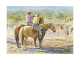 Splitting the Herd Giclee Print by LaVere Hutchings
