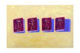 Four Passports Giclee Print by Sara Hayward