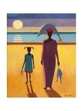 Woman with Fish Reproduction procédé giclée par Tilly Willis