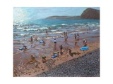 Circles in the Sand, Sidmouth, 2007 Giclee Print by Andrew Macara