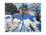 Les Gets Giclee Print by Andrew Macara