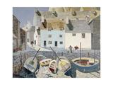 Polperro Giclee-trykk av Eric Hains