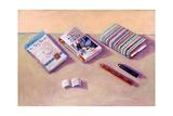 Three Books Giclee Print by Sara Hayward