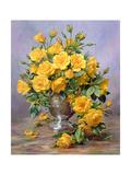 Bright Smile - Roses in a Silver Vase Reproduction procédé giclée par Albert Williams