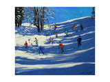 Blue Shadows, Morzine Giclee Print by Andrew Macara