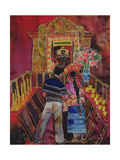 Mayan Couple with Maximon, 2006 Giclee Print by Hilary Simon