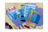 Three Pegs Giclee Print by Sara Hayward