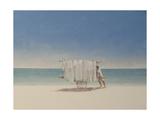 Cuba Beach Seller, 2010 Giclee Print by Lincoln Seligman