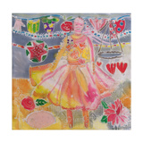 Fairy with Hearts and Flowers, 2006 Giclee Print by Hilary Simon