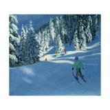 Fresh Snow, Morzine, France Impressão giclée por Andrew Macara