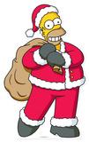 Homer Christmas Lifesize Standup Pappfiguren