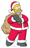 Homer Christmas Lifesize Standup Kartonnen poppen