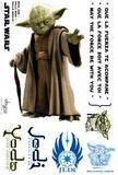 Star Wars - YODA (scale 1) Veggoverføringsbilde