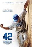 42 (Chadwick Boseman, T.R. Knight, Harrison Ford) Movie Poster Affiche originale