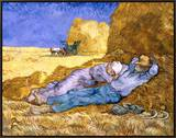 Midday Rest (after Millet), c.1890 Framed Canvas Print by Vincent van Gogh