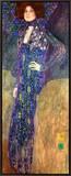 Emilie Floege Framed Canvas Print by Gustav Klimt