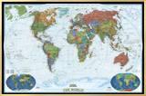 Mapa Político Mundial, Estilo Decorador Impressão em tela emoldurada por  National Geographic Maps
