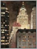 Manhattan Illuminated Impressão em tela emoldurada por Paulo Romero