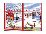 Winter Window - Jack & Jill Giclee Print by Janet Smalley