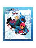 Winter Fun - Jack & Jill Giclee Print by Len Ebert