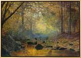 On the River Greta, Lake District, England Framed Canvas Print by John Atkinson Grimshaw