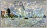 The Boats, or Regatta at Argenteuil, circa 1874 Framed Canvas Print by Claude Monet