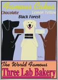 Padaria dos Três Labradores Impressão em tela emoldurada por Ken Bailey