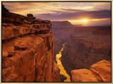 Grand Canyon from Toroweap Point Framed Canvas Print by Ron Watts