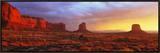 Sunrise, Monument Valley, Arizona, USA Impressão em tela emoldurada
