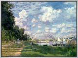 The Marina at Argenteuil, 1872 Framed Canvas Print by Claude Monet
