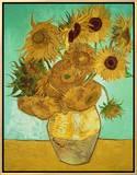 Girassóis, c.1888 Impressão em tela emoldurada por Vincent van Gogh