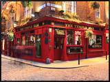The Temple Bar Pub in Temple Bar Area Framed Canvas Print by Eoin Clarke