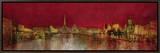 Paris at Night Impressão em tela emoldurada por  Kemp