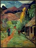 Gauguin: Tahiti, 19Th C Framed Canvas Print by Paul Gauguin