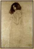 Retrato de jovem mulher, 1896-97 Impressão em tela emoldurada por Gustav Klimt