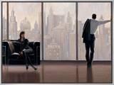 New York State of Mind Impressão em tela emoldurada por Brent Lynch
