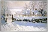 The Magpie, 1869 Framed Canvas Print by Claude Monet
