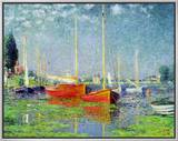 Argenteuil, circa 1872-5 Framed Canvas Print by Claude Monet