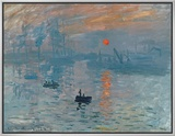 Impression: Sunrise, 1872 Framed Canvas Print by Claude Monet