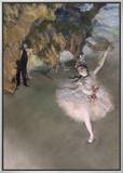 The Star, or Dancer on the Stage, circa 1876-77 Framed Canvas Print by Edgar Degas