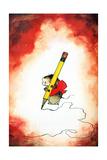 The Pencil Pusher - Jack & Jill Giclee Print by Edith Osborn Corbett