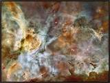 Visão ampla de 50 anos luz da região central da Nebulosa Carina Impressão em tela emoldurada por  Stocktrek Images