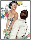 """I Want A Man  - Saturday Evening Post """"Leading Ladies"""", April 15, 1950 pg.40 Framed Canvas Print by Joe deMers"""
