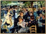 Ball at the Moulin De La Galette, 1876 額入りキャンバスプリント : ピエール=オーギュスト・ルノワール