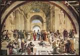 Stanza Della Segnatura: a Escola de Atenas Impressão em tela emoldurada por  Raphael