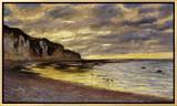 Pointe de Lailly, Maree Basse, 1882 Impressão em tela emoldurada por Claude Monet