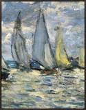 The Boats, or Regatta at Argenteuil Framed Canvas Print by Claude Monet