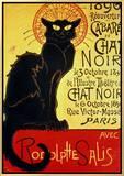 Reopening of the Chat Noir Cabaret, 1896 Impressão em tela emoldurada por Théophile Alexandre Steinlen