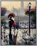 Romantic Embrace Impressão em tela emoldurada por Brent Heighton