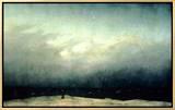 Monge à beira do mar, 1809 Impressão em tela emoldurada por Caspar David Friedrich
